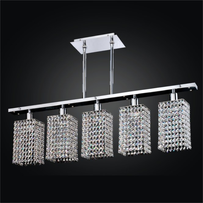 Create Your Own 5 Light Chandelier Linear Assorted Crystal Trim Kits