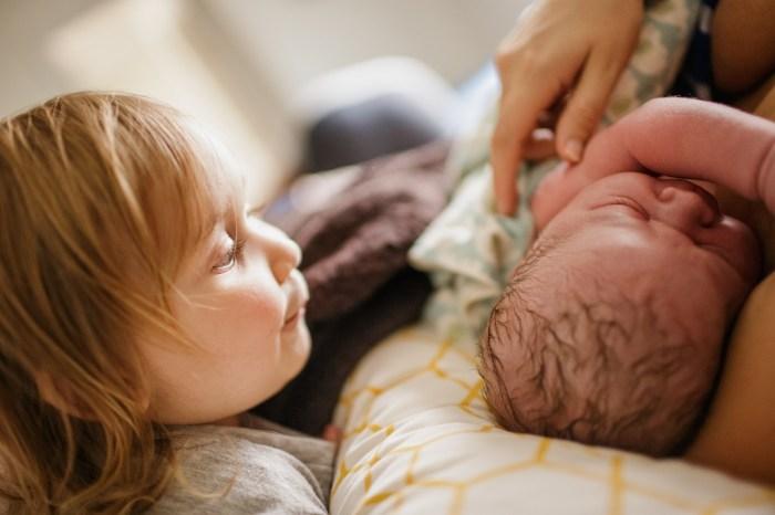 Child and newborn