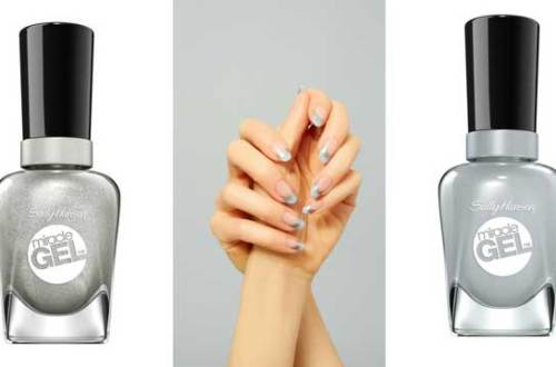 Jesienny french manicure wg Sally Hansen