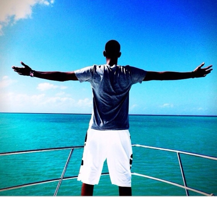Ivan Kagame living it up!