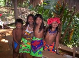 Embera Indian children