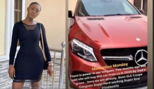 Actress Linda Osifo Acquires Expensive Mercedes Benz Whip (Video)