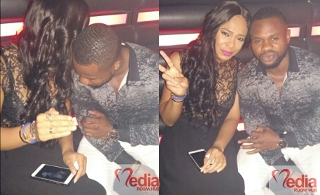 Ex-#BBNaija Housemates, TBoss And Kemen Finally Reconcile, Spotted Together At Night Club (Photos)