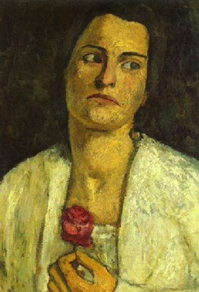 © wikimedia commons, Paula Modersohn-Becker: Brustbild der Bildhauerin Clara Westhoff-Rilke