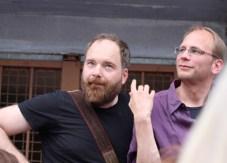 Daniel Schnier (links) und Oliver Hasemann, Stadtplaner von der AAA