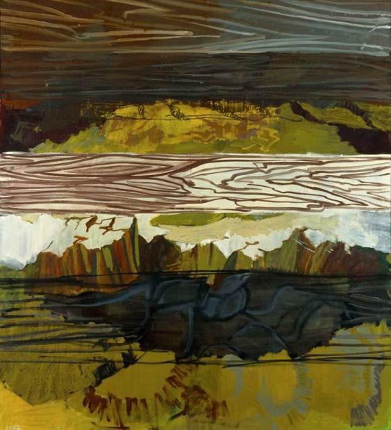 Per Kirkeby, Brett Felsen (2000), Öl auf Leinwand, Louisiana Museum of Modern Art, Schenkung Jytte und Dennis Dres