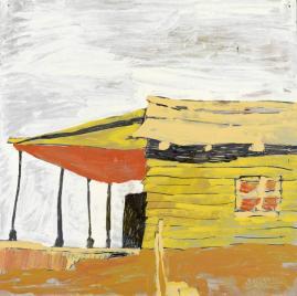 Per-Kirkeby, Ohne Titel (1965), Öl auf Masonit, Louisiana Museum of Modern Art