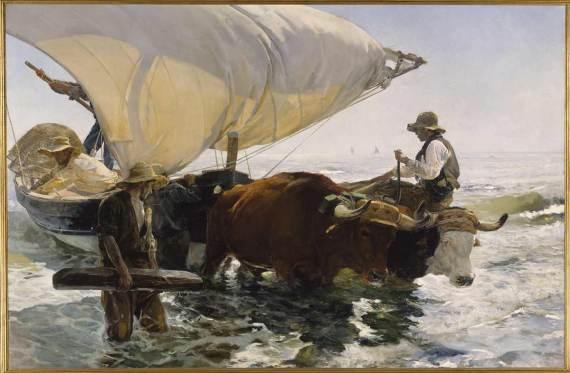 Joaquín Sorolla: Die Rückkehr vom Fischfang, 1894, Öl auf Leinwand, Paris Musée d'Orsay © RMN Grand Palais Musée d'Orsay Gérard Blot Hervé Lewandowsk
