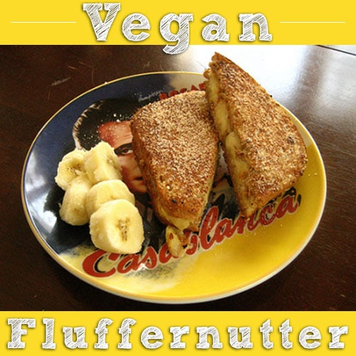 Grilled Vegan Fluffernutter Sandwich - This sandwich fully gave me a stomach ache, because I don't normally eat so much oiland sugar in one sitting. And it was so, so worth it.