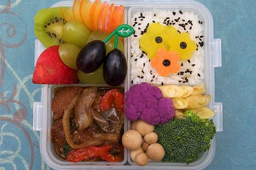 cute vegan bento