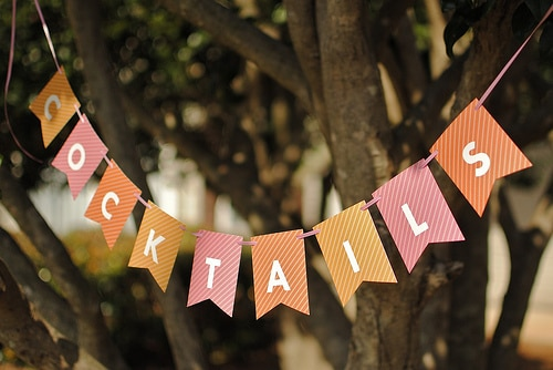 handmade cocktail bunting