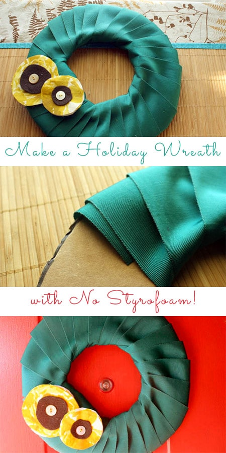Here's how you can make your very own holiday wreath with no styrofoam in sight!