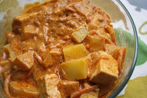 vegan tofu masaman curry
