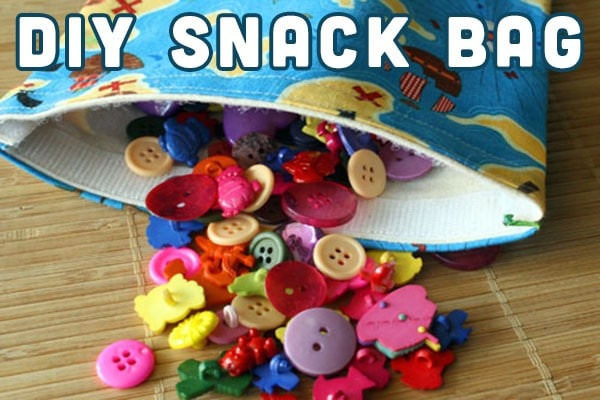 Make a reusable snack bag from fabric that you already have in your stash.