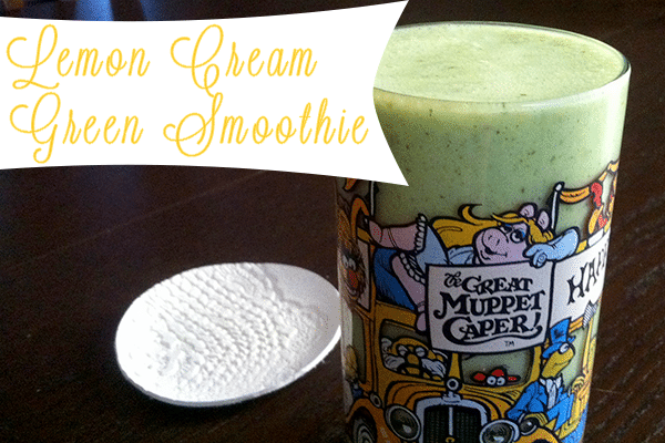 lemon cream green smoothie