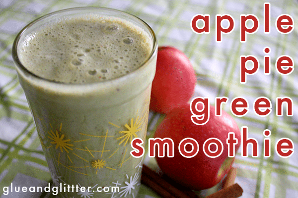 apple pie green smoothie