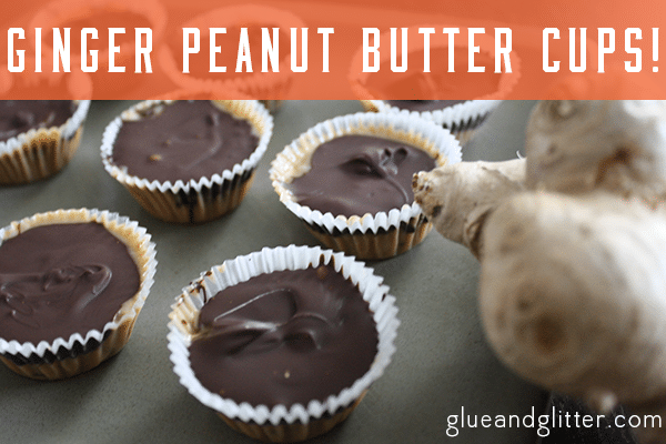 ginger vegan peanut butter cups
