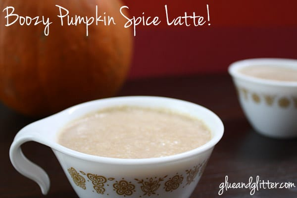 It's pumpkin spice latte season! Wind down with a boozy version that's made with actual pumpkin.