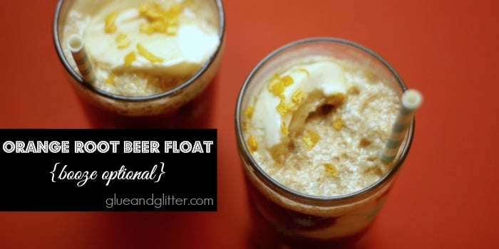 I haven't had a root beer float in years, and this citrusy orange root beer float rocked my socks!