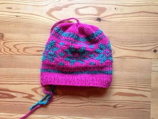 Mütze pink Norweger 2 Glücksfrosch