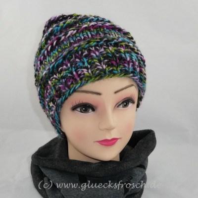 grau bunte mütze