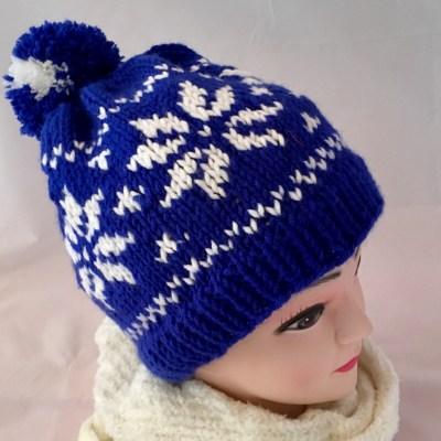 blaue norwegermütze