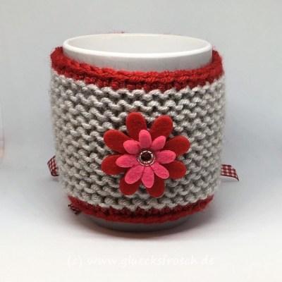 Tassenwärmer grau rot