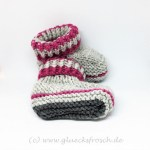 Babyschuhe grau, pink, mit Sohle