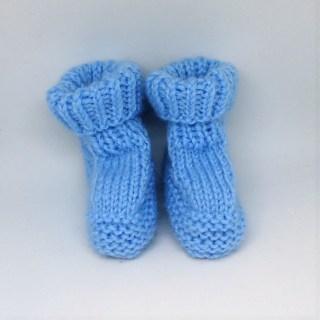 blauer Babyschuh