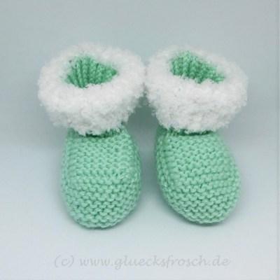 Babyschuh, pastellgrün weiß