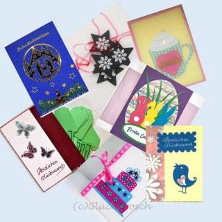 Glückwunschkarten, Weihnachtskarten, Geschenkanhänger