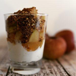 Foto vom Apfelstrudel im Glas