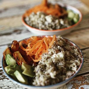 Foto Teller mit gesunden Essen drauf