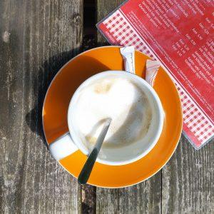 Kaffee auf einer Hütte