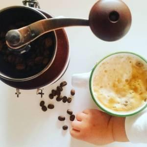 Foto Kaffee und Kaffeemühle