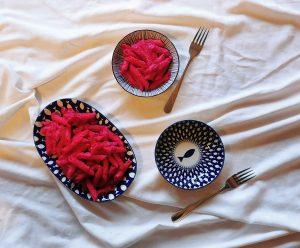 Pasta mit Roten Rüben
