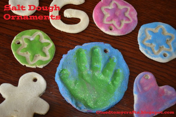 Salt Dough Ornaments - Toddler Winter Craft