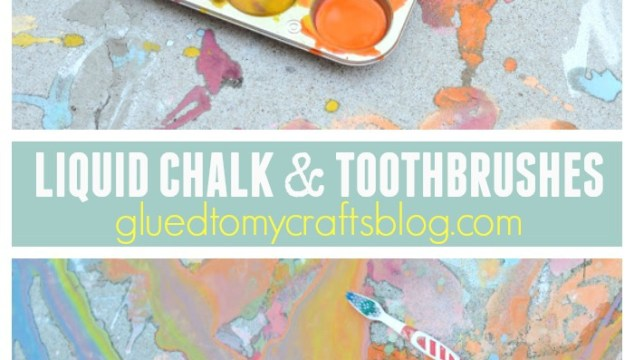 Liquid Chalk & Toothbrushes {Kid Craft}
