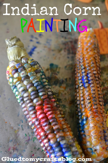 Indian Corn in Paint