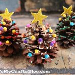 How To Make Pine Cone Christmas Trees Kid Craft Idea For The Holidays