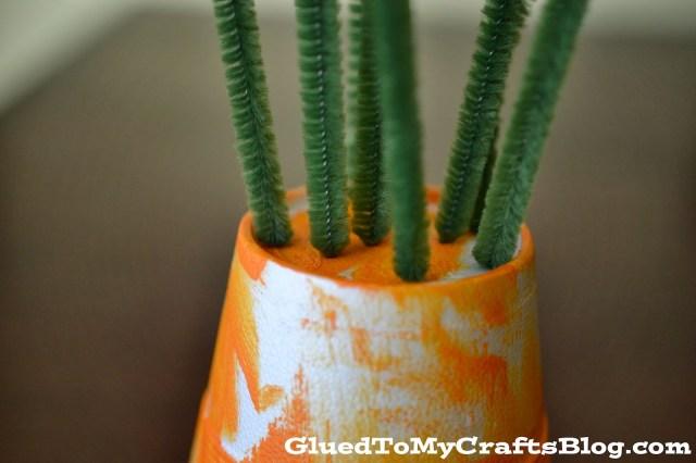 Styrofoam Carrot {Kid Craft}