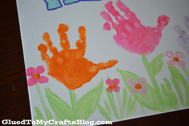 Spring Welcome Sign {Kid Craft}