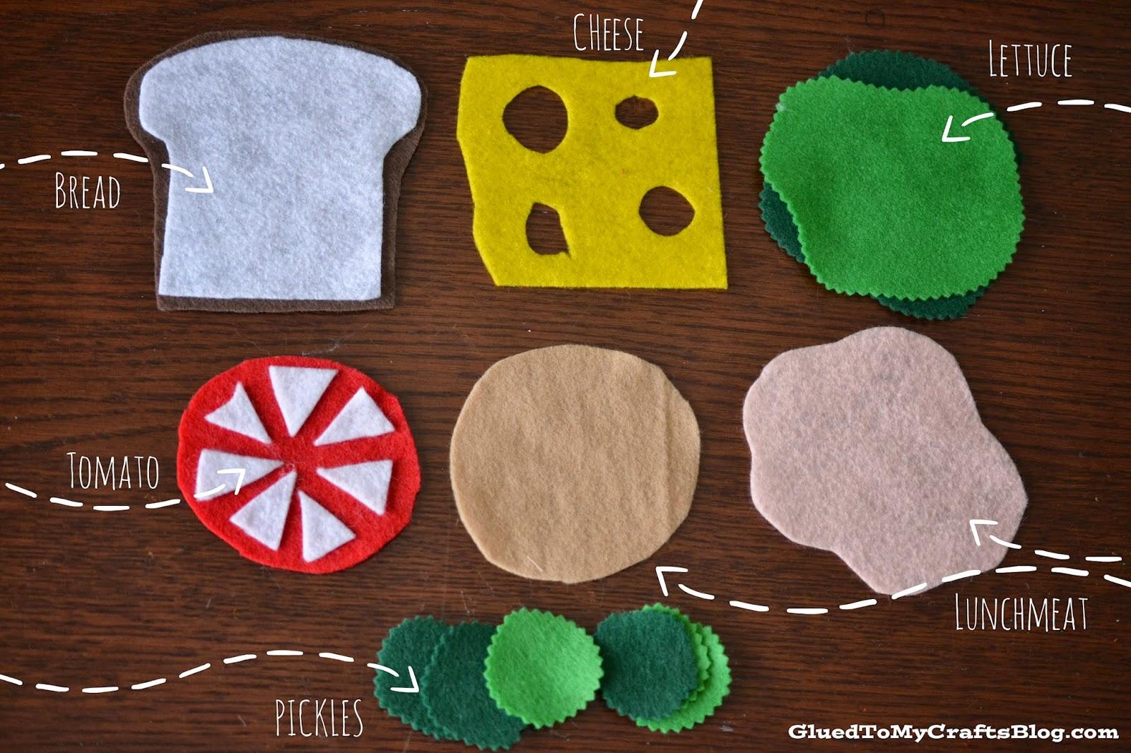 Felt Sandwich Busy Bag Idea Glued To My Crafts