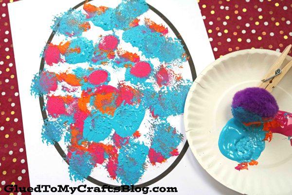 Pom Pom Polka Dot Eggs - Kid Craft
