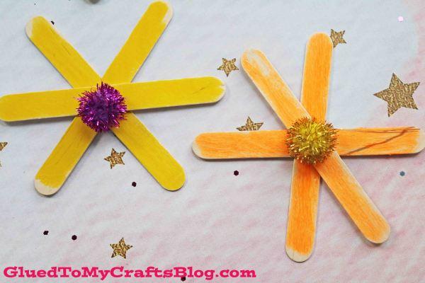 Popsicle Stick Flowers {Kid Craft}