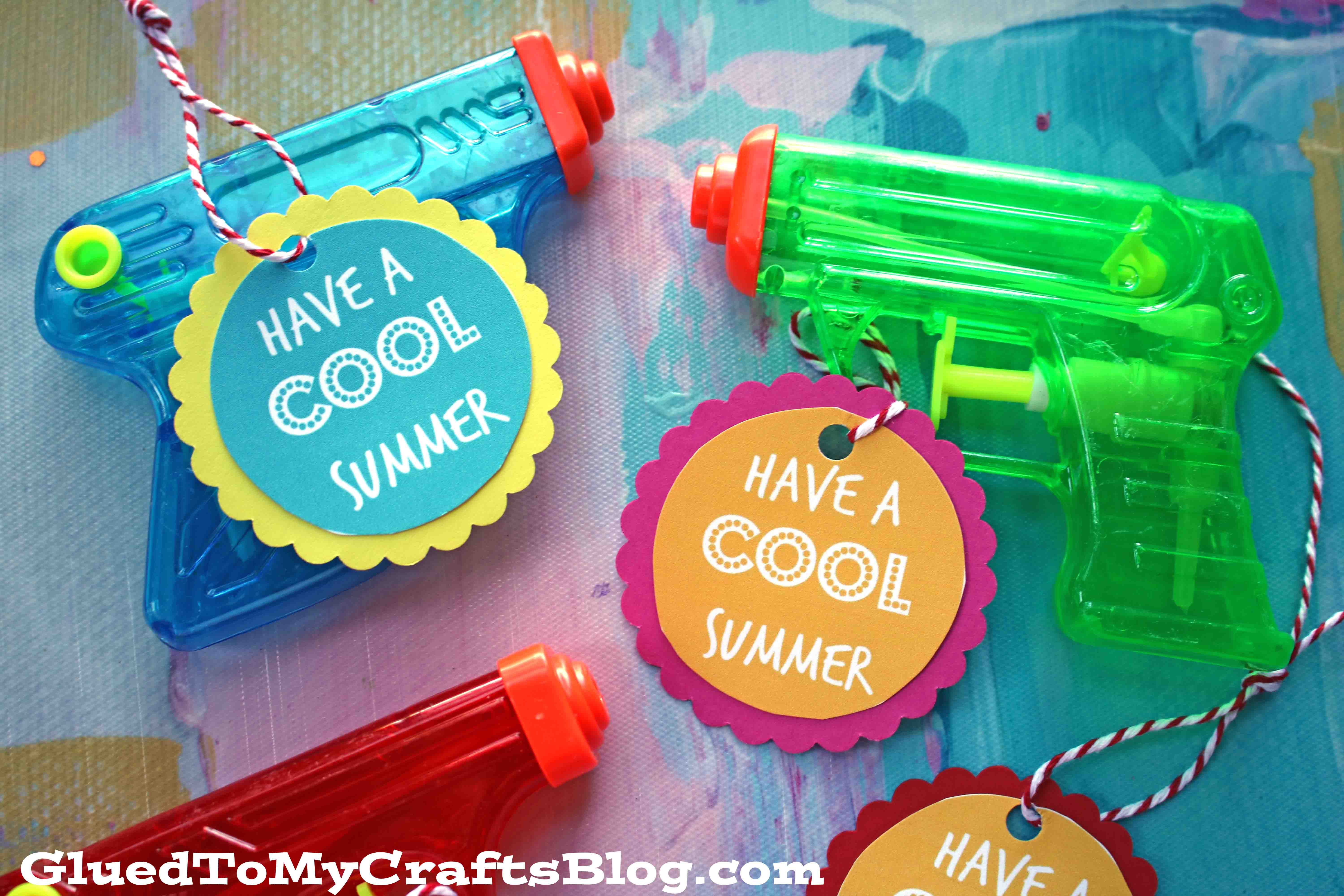 photo relating to Have a Cool Summer Printable called Summer season Squirt Gun Tags Absolutely free Printable