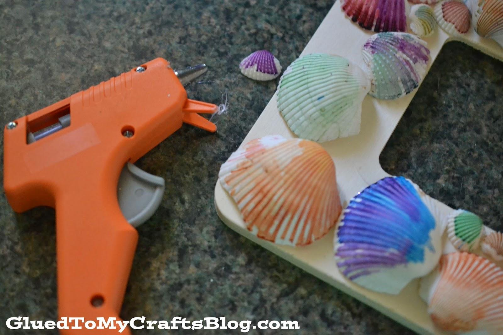 Watercolor Seashell Frame Kid Craft