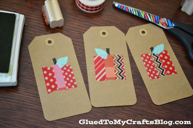 Washi Tape Apple Gift Tags {Crafts}