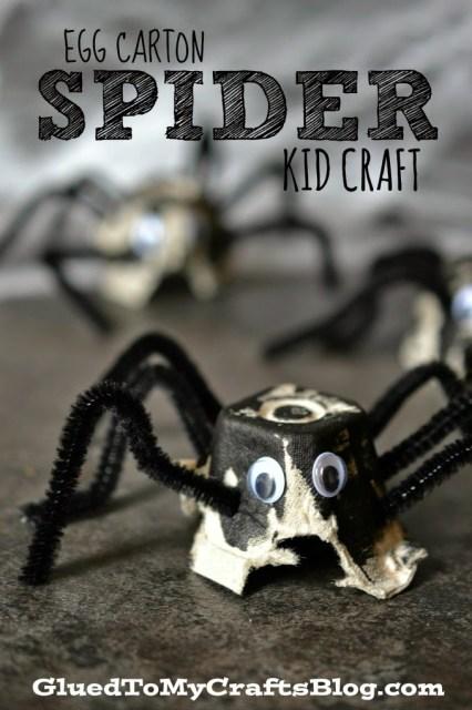 Egg Carton Spider {Kid Craft}