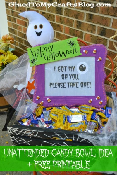 Unattended Halloween Candy Bowl Craft Idea
